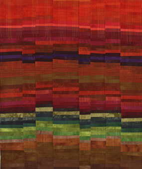 Autumn Brown County, Ind by textile artist Daren Redman